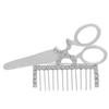 Scissors/Comb (Crystal/Silver) Rhinestone Pin