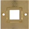 Bracelet Part Setting 38 mm for Swarovski 4439 Square Ring Crystal 20 mm Gold Plated