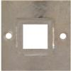 Bracelet Part Setting 38 mm for Swarovski 4439 Square Ring Crystal 20 mm Silver Plated