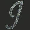 Swarovski Sticker Monogram Letter J, 2 Inch Height