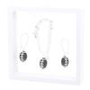 Game Time Bling Mini Football Necklace & Earring Gift Set - Jet/Crystal