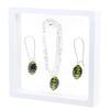 Game Time Bling Mini Football Necklace & Earring Gift Set - Jet/Citrine
