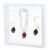 Game Time Bling Mini Football Necklace & Earring Gift Set - Jet/Hyacinth