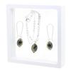 Game Time Bling Mini Football Necklace & Earring Gift Set - Jet/Light Colorado Topaz