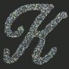 Swarovski Sticker Monogram Letter K , 2 Inch Height