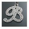 "Rhinestone Initial Key Chain ""B"""