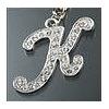 "Rhinestone Initial Key Chain ""K"""