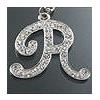 "Rhinestone Initial Key Chain ""R"""