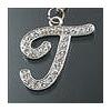 "Rhinestone Initial Key Chain ""T"""