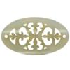 Oval Lacy Lucite Laser Cut 40 x 23 mm Cream