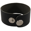 Leather Cuff, 21.5cm x 3.2cm , Black