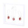 Game Time Bling Mini Football Necklace & Earring Gift Set - Light Siam/Crystal