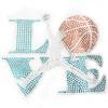 Hotfix Iron On Transfer - Love Basketball