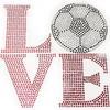 Hotfix Iron On Transfer - Love Soccer Ball 1