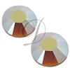 Swarovski 2028 Rhinestones FlatBack 16ss Light Colorado Topaz AB Unfoiled