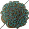 Mediterranean Bead Coin 22 mm Antique Copper