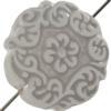 Mediterranean Bead Coin 22 mm White Crystal