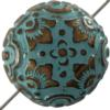 Mediterranean Bead Round 20 mm Antique Copper Patina