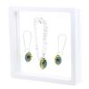 Game Time Bling Mini Football Necklace & Earring Gift Set - Montana/Citrine