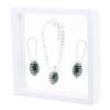 Game Time Bling Mini Football Necklace & Earring Gift Set - Montana/Crystal