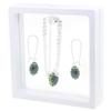 Game Time Bling Mini Football Necklace & Earring Gift Set - Montana/Peridot