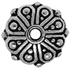 TIERRACAST® Antique Silver Oasis Rondelle Bead