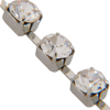 Rhodium Plated Cup Chain ss17 (pp 32) Crystal