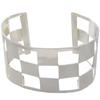 Open Cuff Bracelet with Square Flat Spots in Silver