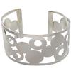 Open Cuff Bracelet with Flat Spots in Silver