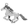 Horse Pendant for Necklace Antique Silver Length 35mm x 44mm wide.