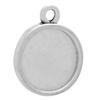 Round Pendant for Epoxy Clay Antique Silver 14mm Diameter for Embellishing