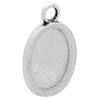 Oval Pendant for Epoxy Clay Antique Silver Length 24x16mm wide for Embellishing