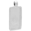 Rectangle Pendant Epoxy Clay Silver Length 35mm x 19mm wide