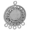 Antique Silver Chandelier Finding with Round Bezel Length 28mm x 24mm Diameter