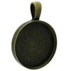 Antique Brass Round Bezel Pendant 35mm Diameter