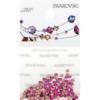 Retail Ready Package of Swarovski 2038 Hot Fix Rhinestones FlatBack 10ss Fuchsia 100 pcs