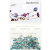 Retail Ready Package of Swarovski 2058 Rhinestones FlatBack 9ss Blue Zircon 115 pcs