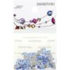 Retail Ready Package of Swarovski 2058 Rhinestones FlatBack 9ss Light Sapphire 115 pcs