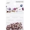 Retail Ready Package of Swarovski 2058 Rhinestones FlatBack 9ss Siam 115 pcs