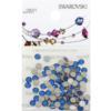 Retail Ready Package of Swarovski 2088 Rhinestones FlatBack 12ss Capri Blue 100 pcs