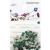 Retail Ready Package of Swarovski 2088 Rhinestones FlatBack 12ss Emerald 100 pcs