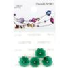 Retail Ready Package of Swarovski 3700 Margarita Rhinestones 10mm Emerald unfoiled 4 pcs