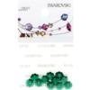 Retail Ready Package of Swarovski 3700 Margarita Rhinestones 06mm Emerald unfoiled 10 pcs