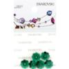 Retail Ready Package of Swarovski 3700 Margarita Rhinestones 08mm Emerald unfoiled 5 pcs