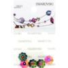 Retail Ready Package of Swarovski 3700 Margarita Rhinestones 08mm Crystal Vitrail Medium unfoiled 4 pcs