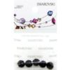 Retail Ready Package of Swarovski 5000 Round Faceted Beads 06mm Jet 5 pcs