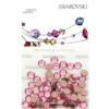 Retail Ready Package of Swarovski 2038 Hot Fix Rhinestones FlatBack 10ss Light Rose 100 pcs