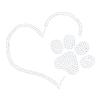 Iron On Transfer - Paw Print with Love Heart