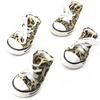Dog Shoes, Size 1, Leopard Print with White Shoestrings