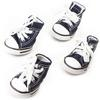 Dog Shoes, Size 1, Blue & White with White Shoestrings